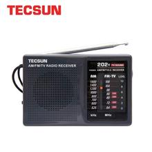 TECSUN R 202T AM/FM/TV Pocket Radio Receiver Built In Speaker Internet Portable Radio FM/FM/TV Pocket Retro Radio
