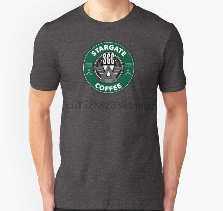 男性半袖 Tシャツスターゲイトコーヒーユニセックス Tシャツ女性の Tシャツ