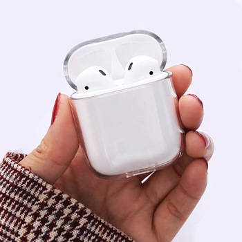 Թափանցիկ անլար ականջակալի լիցքավորման ծածկոց պայուսակ Apple AirPods 1 2 Pro պատյանների համար կոշտ համակարգչի համար Bluetooth արկղ ականջակալներ մաքուր պաշտպանիչ