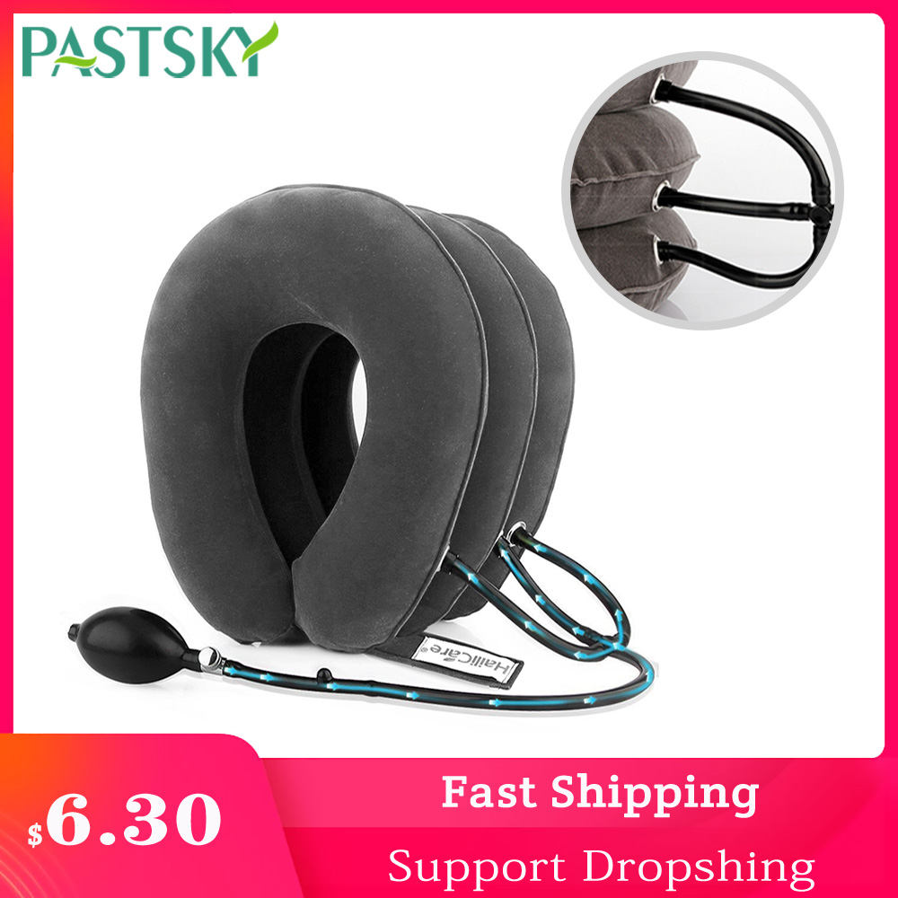 Orthopedic Traction Pillow 3 Layer Inflatable Air Cervical Neck Devices Brace Support Collar Vertebra Relaxation Pain Relie(China)