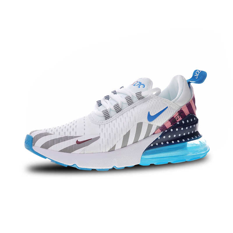 Nike Parra X Nike Air Max 270 Rainbow สวนสนุกวิ่งรองเท้าสำหรับบุรุษและสตรี AH6789-019 36-44