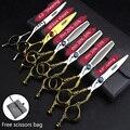 Sharonds tesouras de cabeleireiro profissional 6.0 Polegada 440c japonês corte coroa tesoura salão estilo tesoura