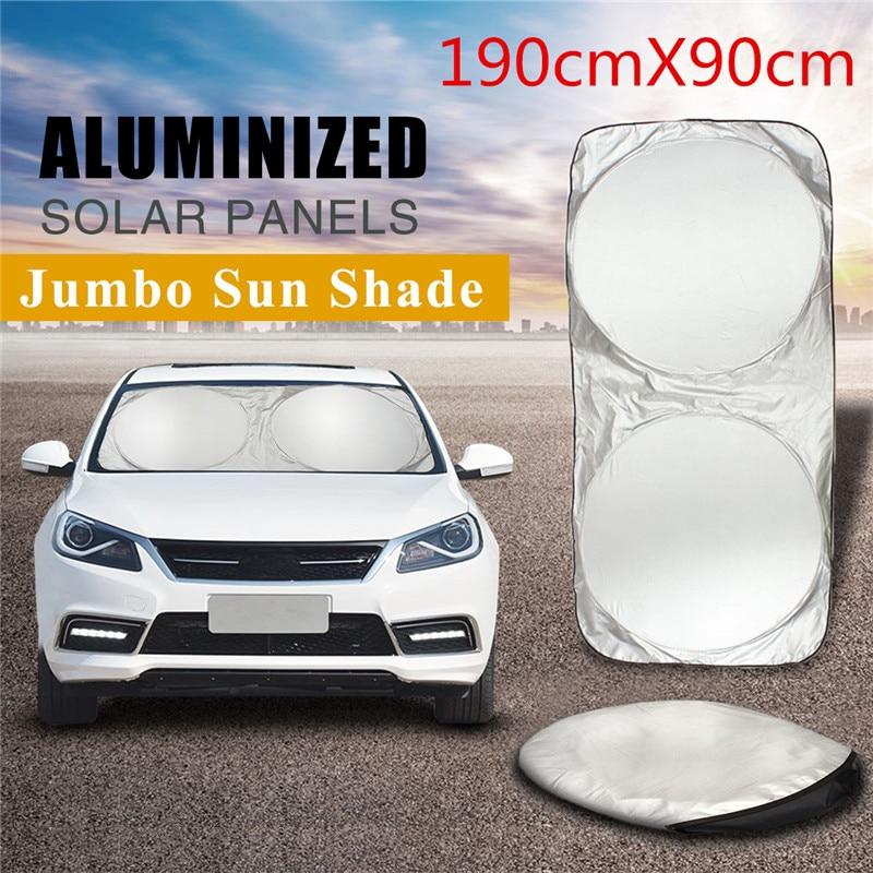 190x90cm Car Sunshade Sun Shade Windshield Front Rear Window Film Visor Cover UV Protection Reflector Car-styling Protector