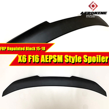 цена на F16 AEPSM style FRP Unpainted Sedan duckbill Trunk spoiler wing For BMW X6 F16 rear Diffuser Spoiler Wings Car Styling 2015-2018
