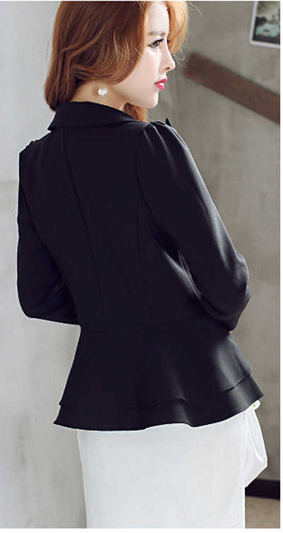 Blazer Feminino Fashion Hot Koop Korte Slanke Vrouwen Blazers En Jassen Volants Bladerdeeg Mouw Vrouwen Suits LX91