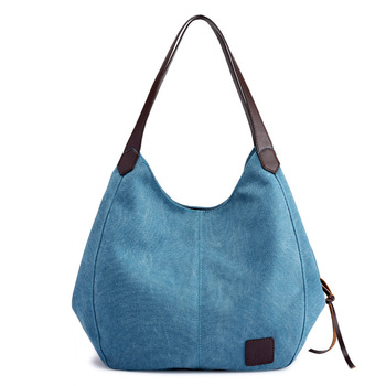 Canvas Bag Vintage Canvas Shoulder Bag Women Handbags Ladies Hand Bag Tote Casual Bolsos Mujer Hobos Bolsas Feminina zip closure canvas tote bag