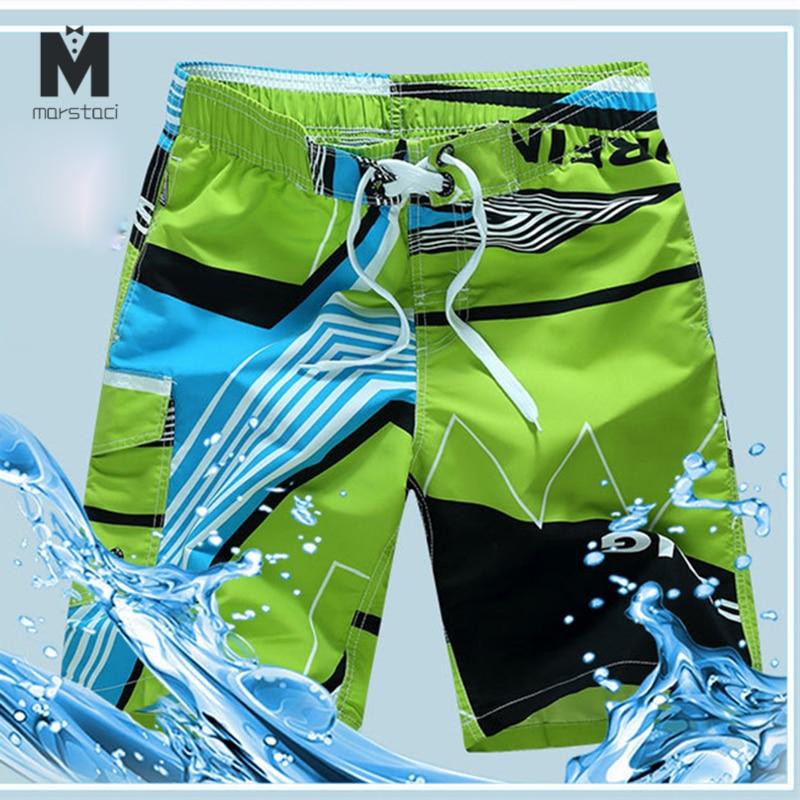 Quick Dry Mens Swimming Shorts Plus Size Men Swimwear Swim Trunks Swimsuit Bermuda Surfing Bathing Suit Board Short Pants Silver