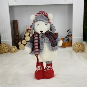 Image 3 - 2 шт./лот, подарок на Новый год, Рождество, день рождения, милый плюшевый медведь, куклы, Рождественское украшение для дома, офиса, прекрасные стоячие игрушки