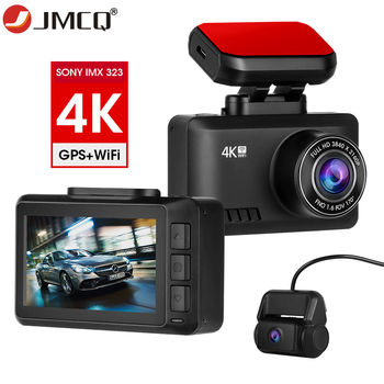 JMCQ 4K Dash Cam Car DVR 2160P+1080P Parking Monitor GPS WIFI Dash Camera Video Recorder Auto Night Vision 24H Parking image