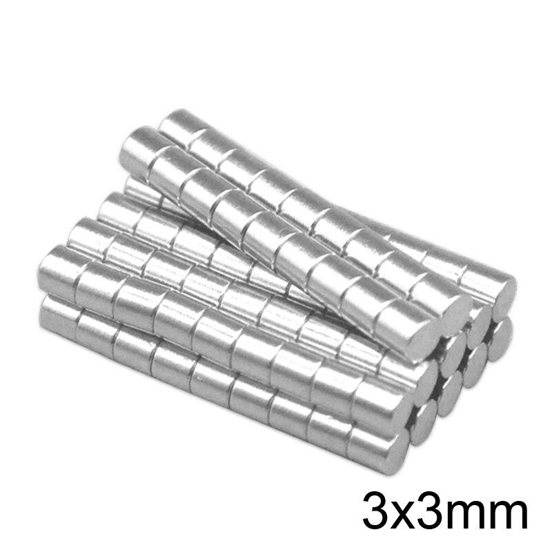 Disque aimant mineur de recherche   50 ~ 3000 pièces 3x3mm, 3x3mm, petits aimants ronds en vrac 3x3mm néodyme rond N35, aimants forts 3x3mm