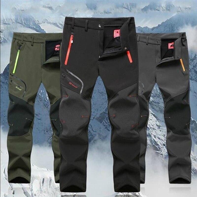 Men Winter Outdoor Pants Summer 2020 Casual Trekking Hiking Windproof Mens Trousers Warm Plus Size Camping Climb Run Male Pants