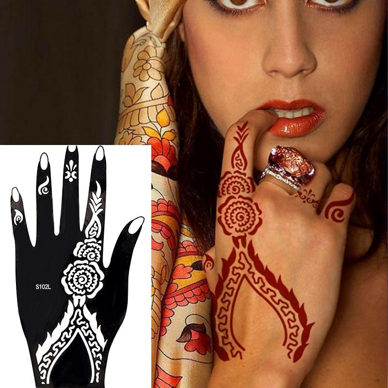 India Henna Tattoo Hollow Out Template Semi-Permanent Tattoo Hand-Painted Templates Human Wenxiu Tattoo Sticker