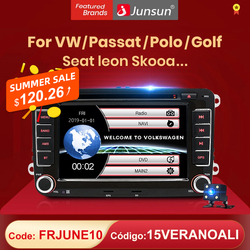 (код:LOVE) Автомагнитола Junsun 2 din мультимедийный плеер GPS для Volkswagen VW Passat B7 B6 Golf Touran Polo сиденье Jetta Skoda Android 10,0 DVD