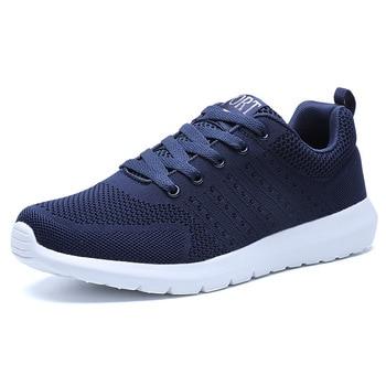 Zapatos transpirables para Hombre, Zapatillas para correr, de malla, talla grande, azul,...