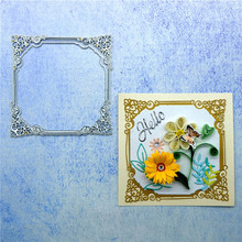 Naifumodo Lace Dies Flower Frame Metal Cutting New 2019 Scrapbooking Card Making Embossing Stencil DieCut Template