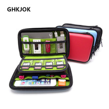 Original Power Bank Case Hard Case Box for 2.5 Hard Drive Disk Bag USB Cable External Storage Carrying SSD HDD Storage Case Bag