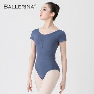 Image 4 - Leotardos de Ballet para las mujeres Yoga baile Sexy formación profesional gimnasia Impresión Digital impresión Leotardos de baile de pescado de belleza de 5648