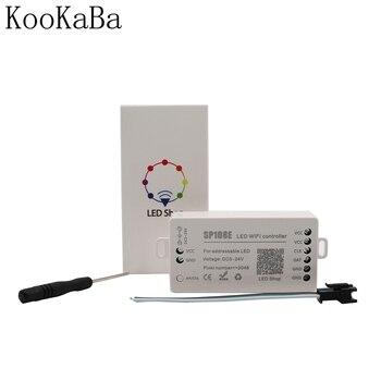 SP108E LED WIFI Controller WS2811 WS2812B WS2813 WS2815 SK6812 Etc LED Strip Module Light Smart APP Wireless Control DC5-24V