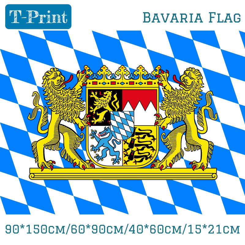 משלוח חינם 90*150 cm/60*90 cm/40*60 cm/15*21 cm גרמנית בוואריה דגל