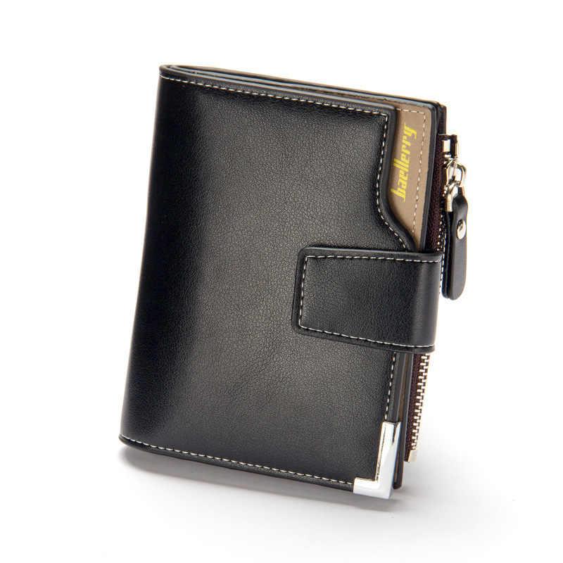 Baellerry ماركة محفظة الرجال الجلود الرجال محافظ محفظة قصيرة الذكور مخلب محفظة جلدية رجالي المال حقيبة ضمان الجودة Carteira