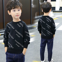 2019 Letter Print Boys Winter Sweater Kids Warm Pullovers Plush Inside Knitted Sweaters Children Velvet Sweaters Boys Jacket
