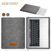 ACECOAT Jumbuck PU leder Sleeve Schutz taschen Für Apple macbook air pro Retina13 12 15 laptop abdeckung Für macbook air 13 fall