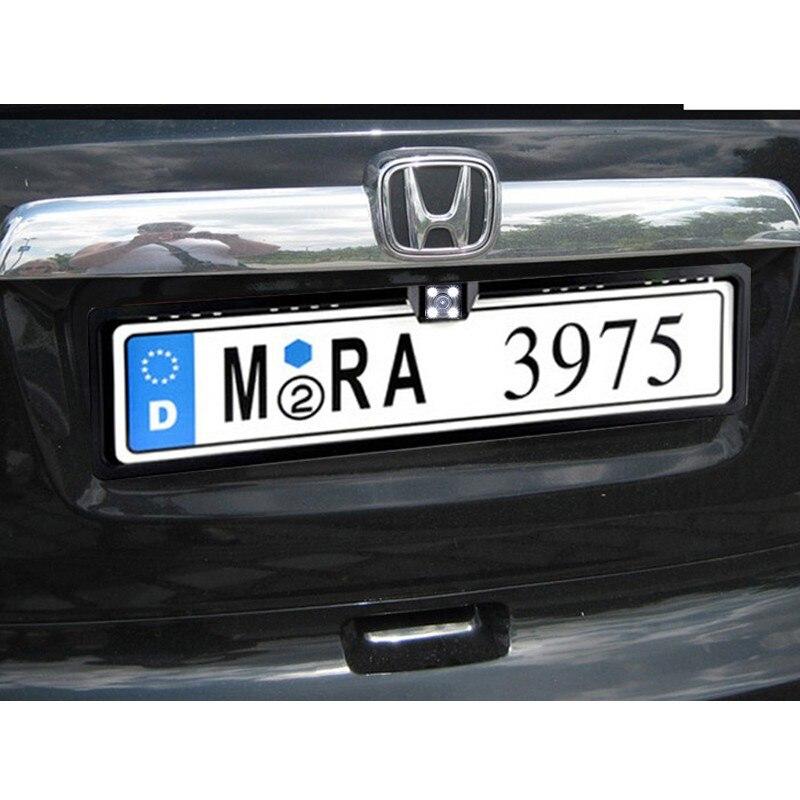 Europe License Plate Frame Webcam European Plate Car Camera Rearview Camera Starlight Night Vision