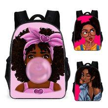 THINKTHENDO African Girl Backpack Laptop Daypack Teenage Bookbag Shoulder Bag Purse