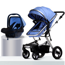 Luxury Baby Stroller Carriage For Newborns High Landscape Two-way Baby