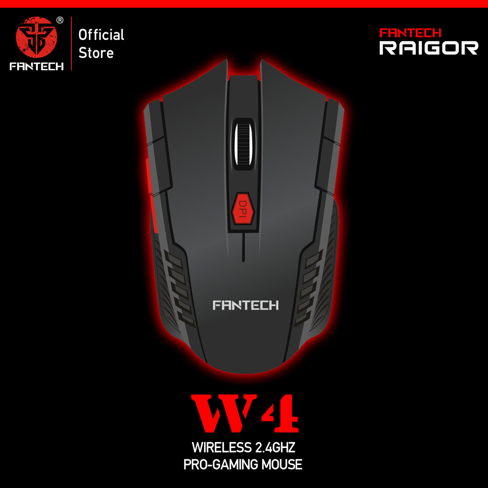 FANTECH W4 2.4GHz Wireless Gaming Mouse Adjustable 2000 DPI 10M Remote Control Optical Computer Mouse 6 Butoons mouse gamer-in Mice from Computer & Office