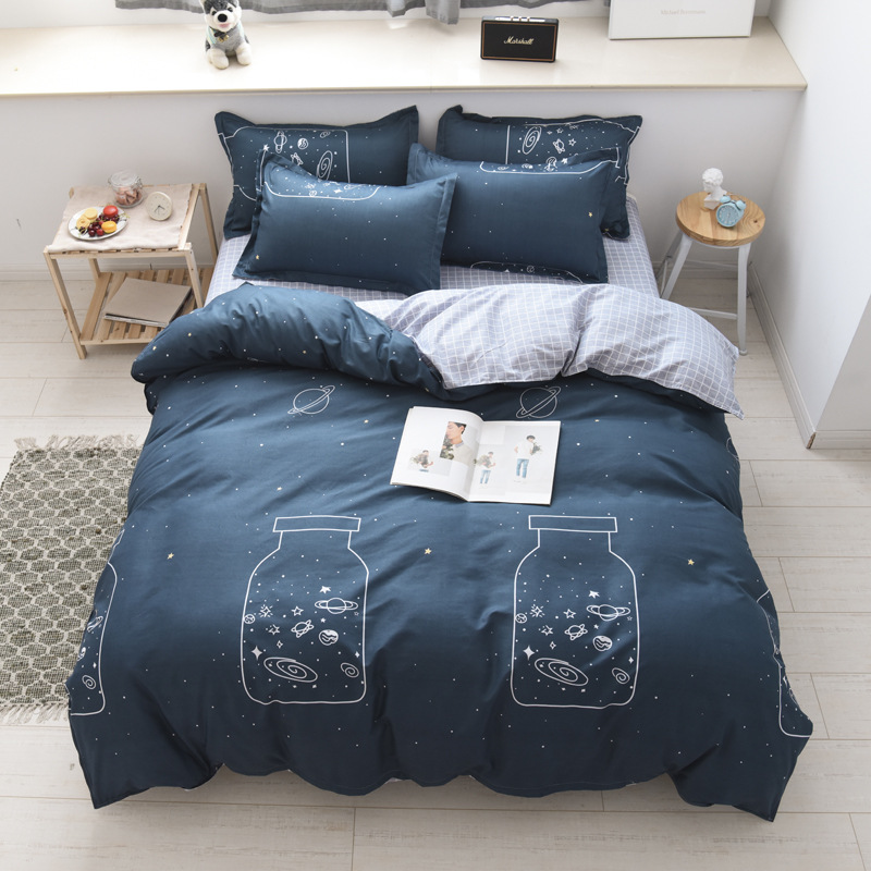 Bedding Cuscini.Dark Gray And Light Gray Plaid Bed Set King Size Bedding Set Bed