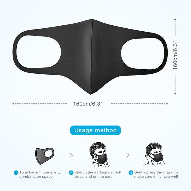 5-100PCS Anti Haze Flu Dust Mask Breathable Unisex Face Mask Reusable Anti Pollution Bacteria Face Shield Wind Proof Mouth Mask 2