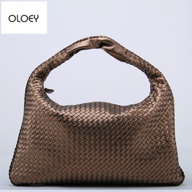 Новинка, Классическая Женская тканая сумка с имитацией овечьей кожи, Повседневная модная сумка на плечо, Большая вместительная сумка|Сумки с ручками|   | АлиЭкспресс