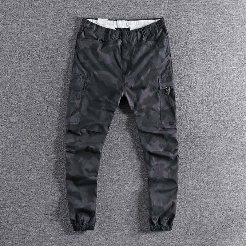 2019 nouvelle mode en plein air mince élastique jeunes Sports bas pantalon hommes loisirs pantalon simple designer de haute qualité promotion XL - 3