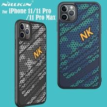حافظة لهاتف آيفون iPhone 11 Pro Max برو ماكس حافظة NILLKIN Striker iPhone 11 حافظة ثلاثية الأبعاد من السيليكون بولي يوريثان غطاء خلفي لهاتف آيفون iPhone 11 برو Pro