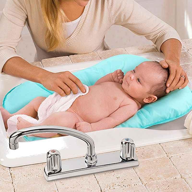 Baby Infant Bath Tub Pillow Pad Lounger Air Cushion Newborn Shower Net Bathtub