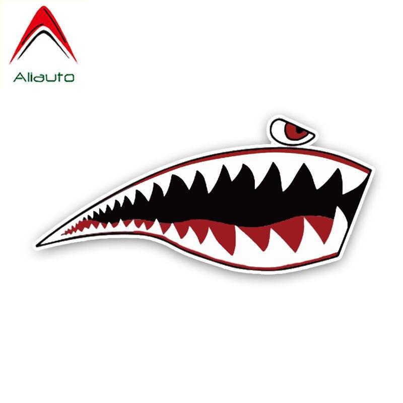 Aliauto творческая наклейка прекрасный в виде пасти акулы для полости рта мультфильм Цветной ПВХ высокого качества автомобиля стикер украшения графический, 14 см * 6 см