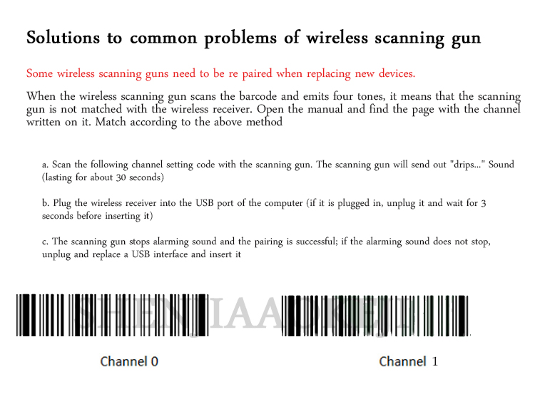Scanner de código de barras scanner a