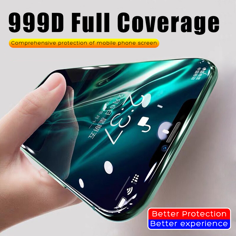 999D Tempered Glass On For iPhone11 Pro Max 6 6s 7 8 Plus 5 5s SE Screen Protective Film For iPhone X XS Max XR Protector Glass image