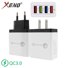 US/EU plug 4 ports USB Mobile phone Charger 5V 3.1A Quick Charge 3.0 Fast Charging 5 Colors Universal Phone USB Charger Travel quick charge 3 0 usb charger travel for iphone samsung micro usb type c fast charging 3 ports eu us plug mobile phone charge