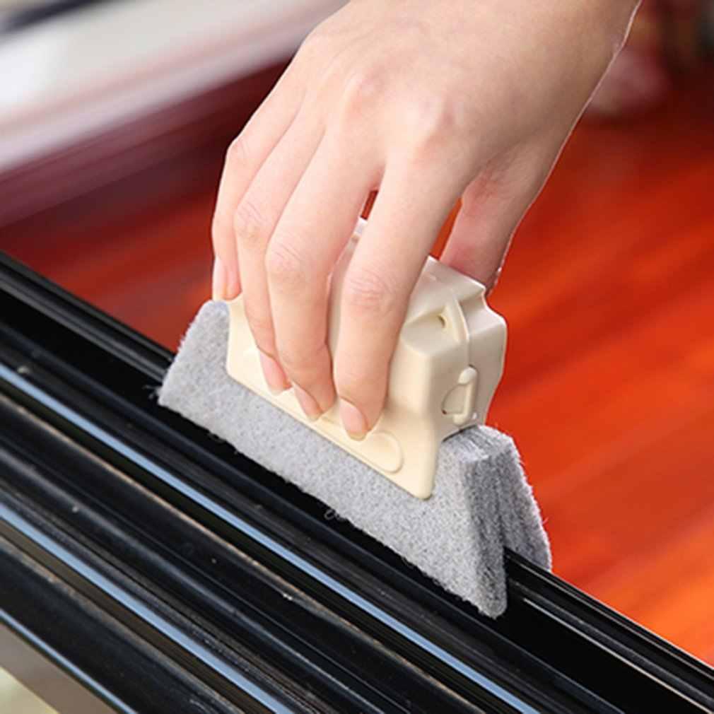 Windows Yuvası Temizleyici pencere temizleyici Fırça Temiz Pencere Yuvası Temizleyici Temizleme Fırçası Için Toka Tipi Temizleme Penceresi Yuvaları