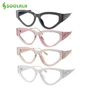 Image 5 - SOOLALA Bling Cat Eye Reading Glasses Women with Cases Eyeglasses Frame Women Presbyopia Glasses +0.5 0.75 1.0 1.25 1.5 to 4.0