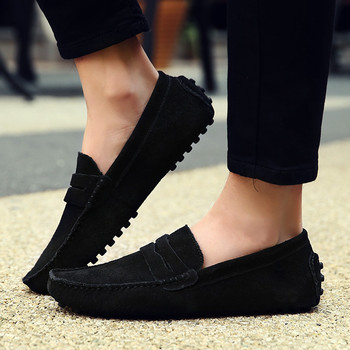 Summer Men's Slip-On Peas Shoes Wild Suede Comfortable Casual Breathable  casual shoes men sneakers sport shoes men 2018