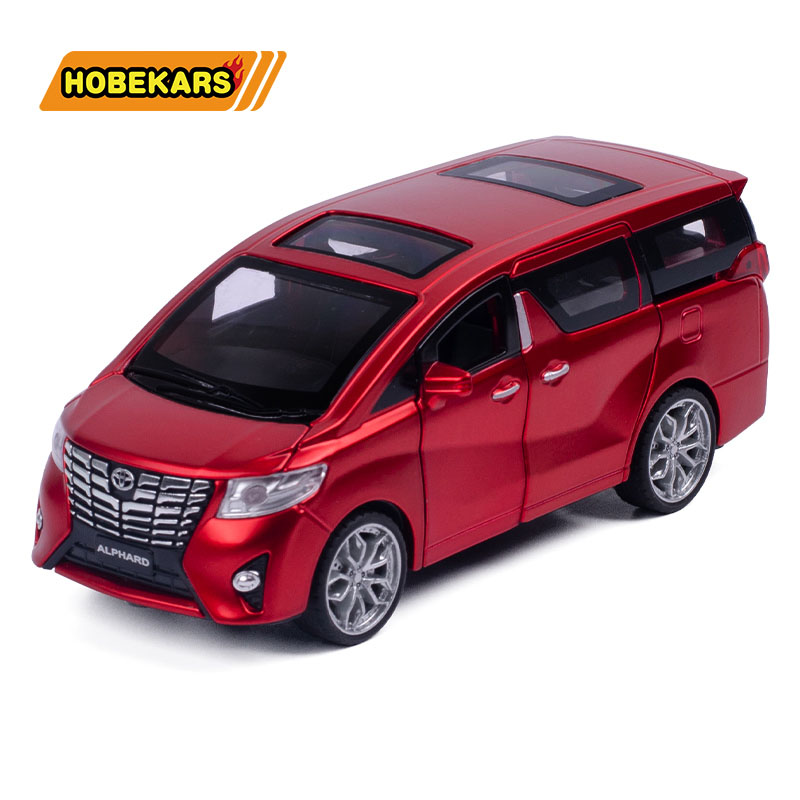 Diecasts & Toy Vehicles Model Business Car Alphard 1:32 Metal Alloy Simulation Pull Back Cars Toys For Kids Gifts For Children