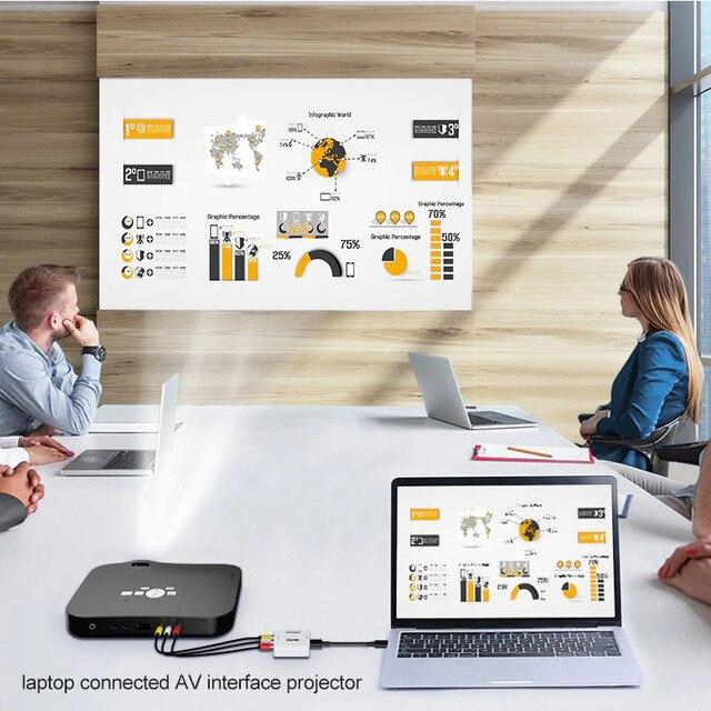 HDMI-compatible TO AV Scaler Adapter HD Video Composite Converter Box HD to RCA AV/CVSB L/R Video 1080P Support NTSC PAL 5