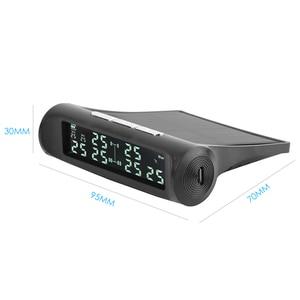 Image 5 - Vodool an 07 solar carro tpms sistema de alarme de monitoramento de pressão dos pneus com 6 sensores externos display lcd monitor de pressão de pneus automático
