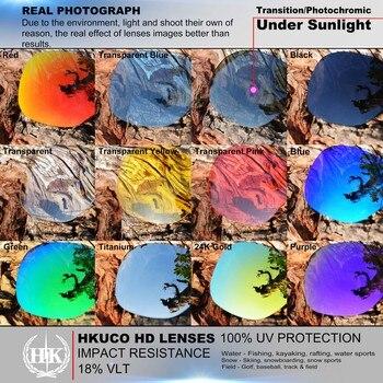 синие линзы солнцезащитные очки | HKUCO для Юпитера-Квадратные солнечные очки замена поляризованных линз 2 пары-синий и серебристый