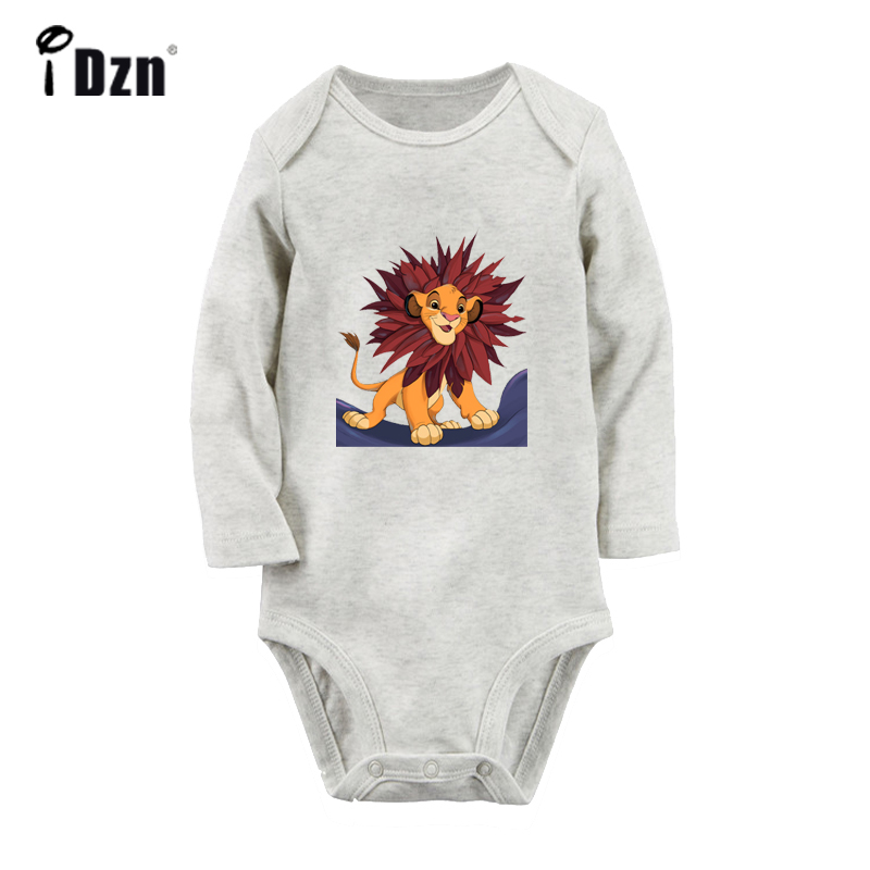 Cute Little Lion Cute Cat And Girl Kiki's Delivery Service Design Newborn Baby Bodysuit Toddler Onesies Long Sleeve Jumpsuit