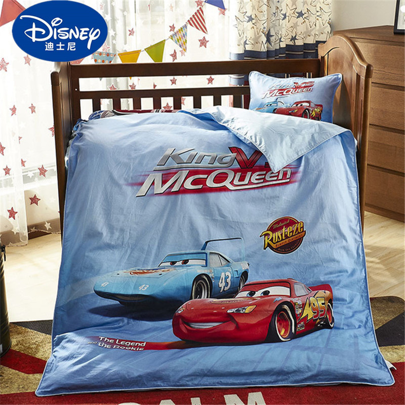 Disney Cartoon McQueen Car Sophia Mickey Minnie baby Bedding Set Crib 3 Pieces Covered Sheet Pillow Case Crib Boy Girl 0.6 Bed