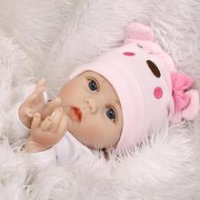55CM Soft Body Silicone bebes Reborn Baby Dolls Toy NewBorn Baby Gift Birthday Bedtime Gift For Girls Education Early A6L2